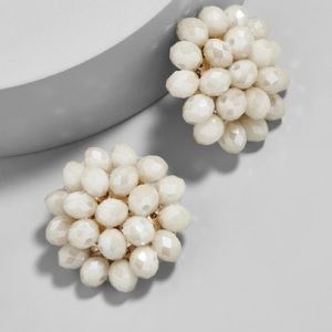 BaubleBar Carnation Stud Ivory Earrings